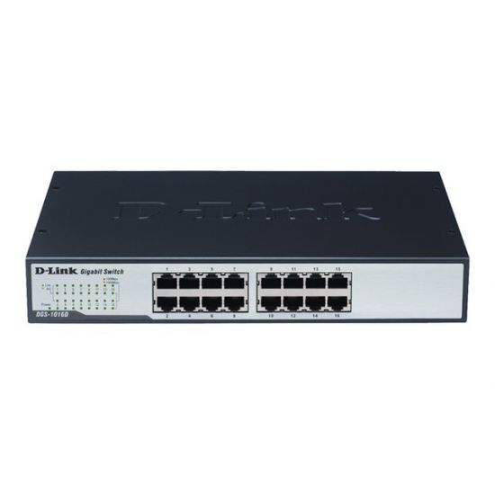 D-Link DGS 1016D - switch - 16 porte - desktop