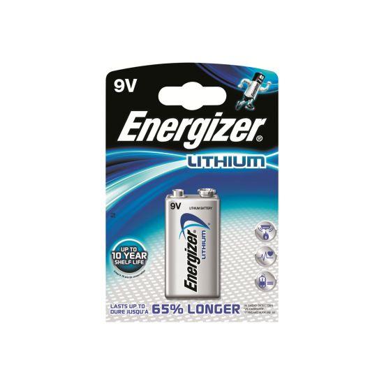 Energizer Ultimate Lithium - Batteri 9V 1200mAh