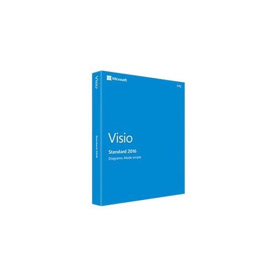 Microsoft Visio Standard 2016 - bokspakke - 1 PC