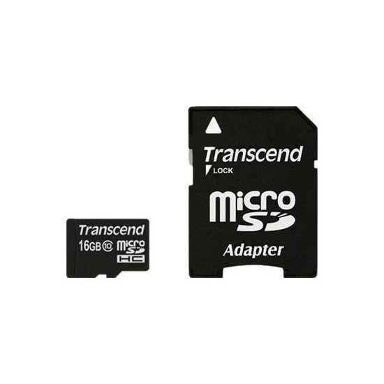 Transcend - flashhukommelseskort - 16 GB - microSDHC
