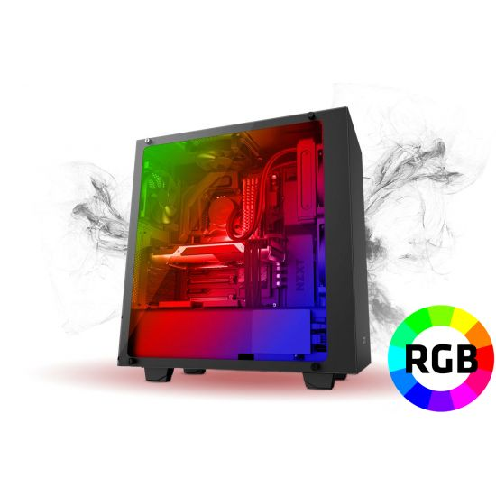 Føniks Valkyrie III Færdigsamlet Gamer Computer - Intel i7 8700 - Vandkøling - 16GB DDR4 - GTX 1080 8GB - 500GB NVMe SSD + 2TB HDD - Windows 10 - RGB