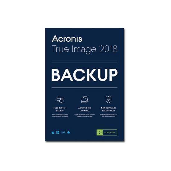 Acronis True Image Premium - licensabonnemet (1 år) - 3 computere, 1 TB skyopbevaringsplads