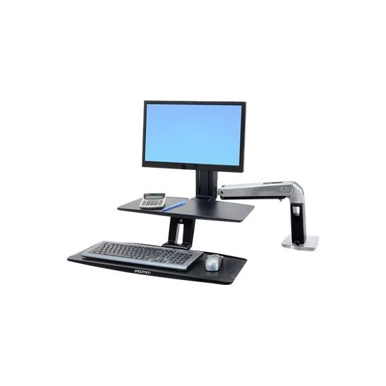Ergotron WorkFit-A with Suspended Keyboard, Single LD - stativ