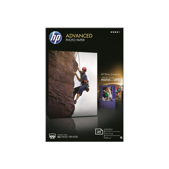 HP Advanced Glossy Photo Paper - fotopapir - 25 ark - 100 x 150 mm - 250 g/m²