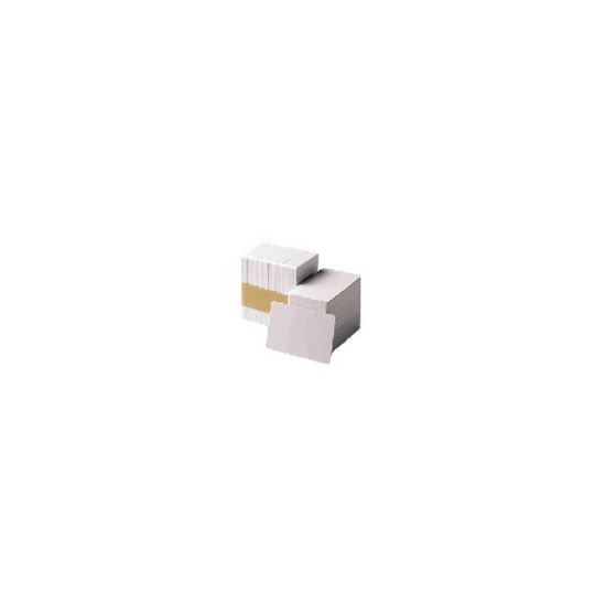 Zebra Premier Plus - hvid - High Coercivity Magnetic Stripe-kompositkort - 100 kort