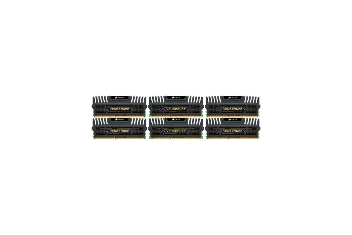 Corsair Vengeance &#45 24GB: 6x4GB &#45 DDR3 &#45 1600MHz &#45 DIMM 240-pin