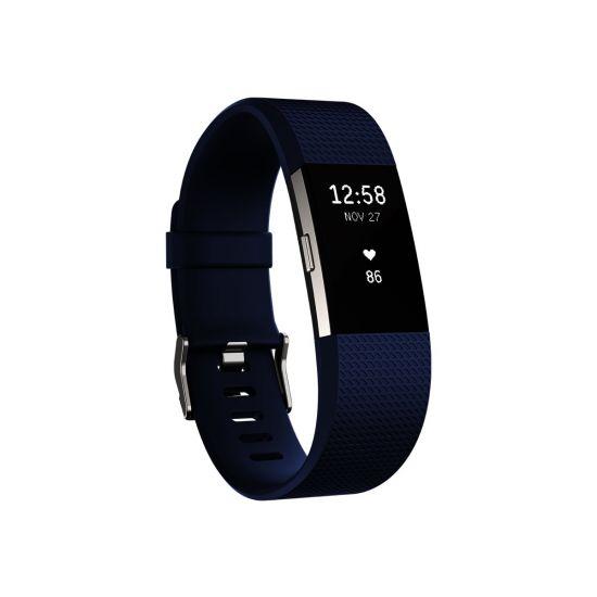 Fitbit Charge 2 - sølv - aktivitetssporer med bånd - blå - sølv