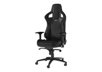 noblechairs EPIC Series Sort Ægte Læder Gamer Stol