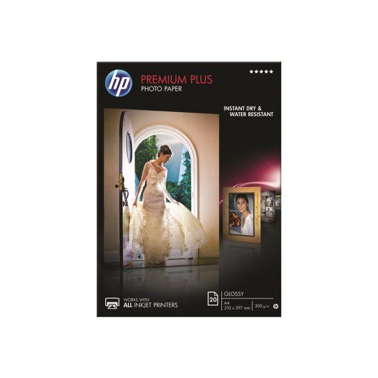 HP Premium Plus Photo Paper - fotopapir - 20 ark - A4 - 300 g/m²