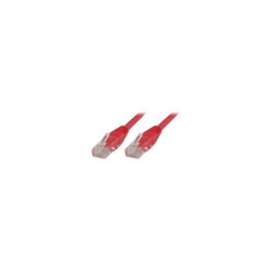 MicroConnect netværkskabel - 20 cm - rød