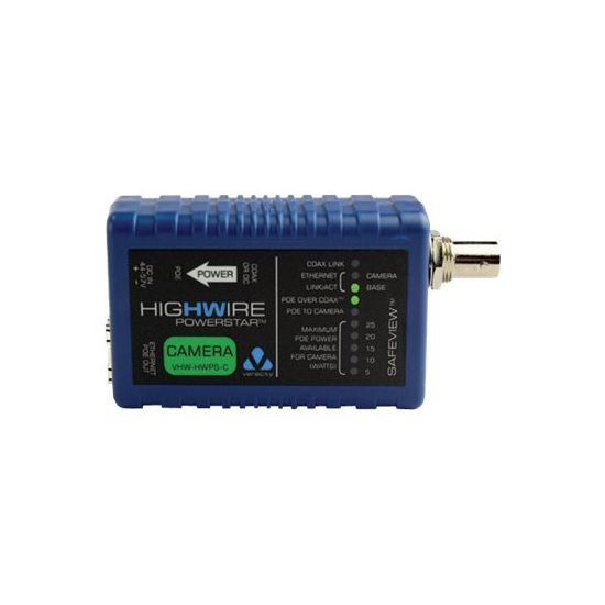 Veracity HIGHWIRE Powerstar Camera Unit - netværksforlænger - 10Mb LAN, 100Mb LAN