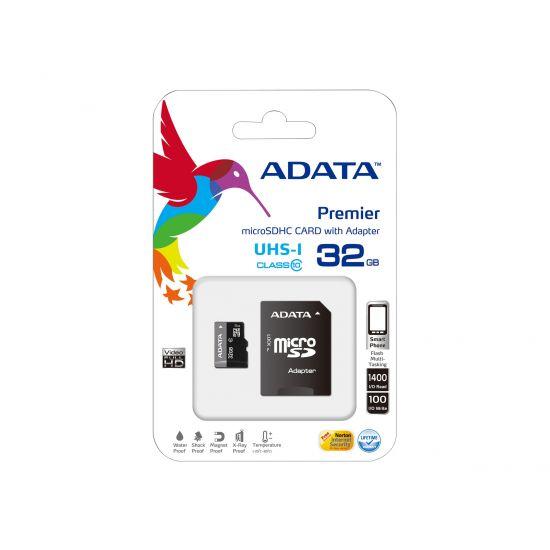 ADATA Premier UHS-I - flashhukommelseskort - 32 GB - microSDHC UHS-I