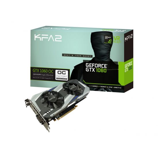 KFA2 GeForce GTX 1060 OC &#45 NVIDIA GTX1060 &#45 3GB GDDR5 - PCI Express 3.0