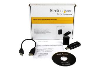 StarTech.com USB Stereo Audio Adapter External Sound Card