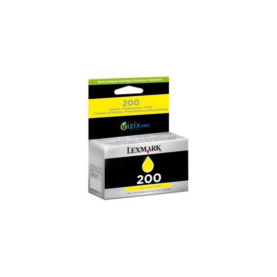 Lexmark Cartridge No. 210 - gul - original - blækpatron - LCCP, LRP