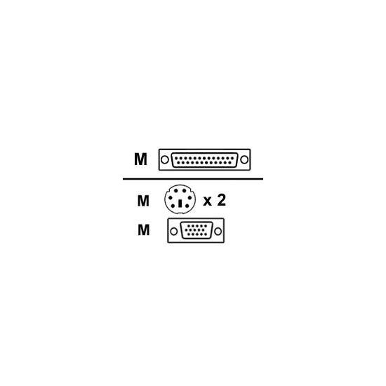 Raritan kabel til tastatur / video / mus (KVM) - 6 m