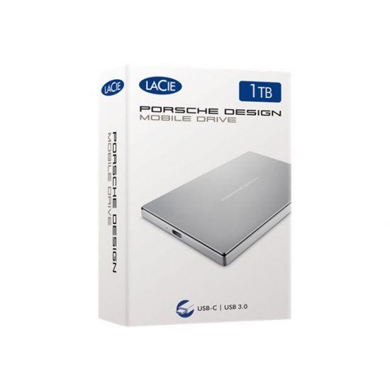 LaCie Porsche Design Mobile Drive &#45 1TB - USB 3.1 Gen 1 - 24 pin USB-C