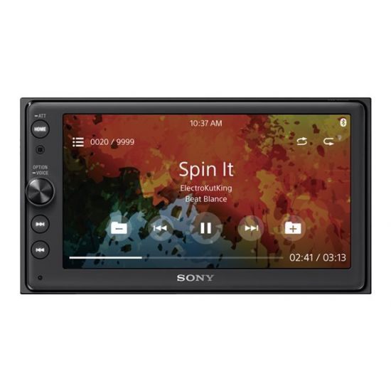 Sony XAV-AX100 - digital modtager - display 6.4 tommer - in-dash enhed - Double-DIN