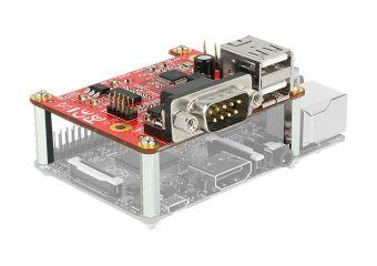 DeLock Converter Raspberry Pi USB Micro-B female / USB pin header > 2 x USB type A female + 2 x serial RS-232