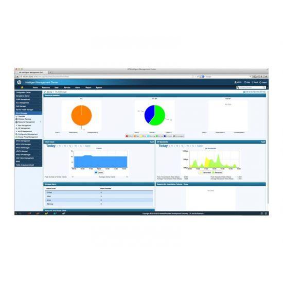 HPE Intelligent Management Center Wireless Service Manager - licens - 50 adgangspunkter