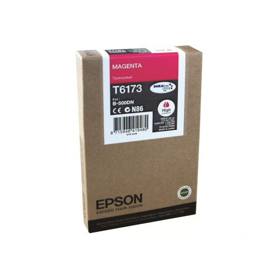 Epson T6173 - høj kapacitet - magenta - original - blækpatron