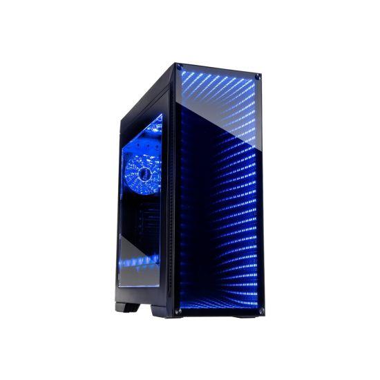 Inter-Tech ATX Infinity-Mirror M-908 LED Midi Kabinet