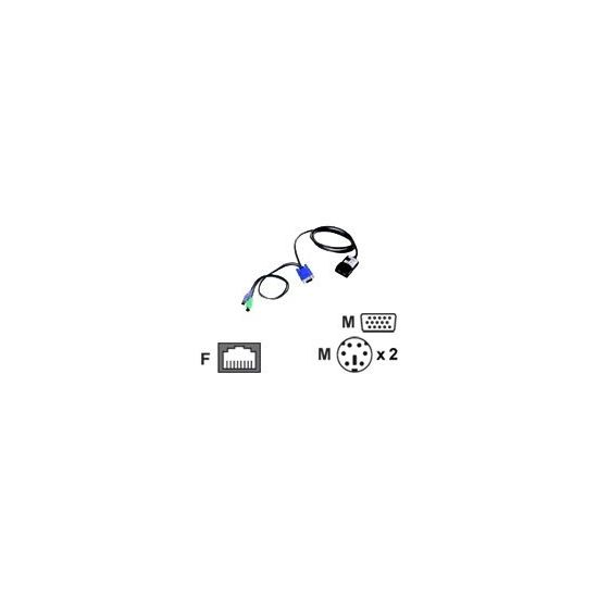 Lenovo Long KVM Conversion Option - adapter til tastatur/ video / mus (KVM) - 1.5 m