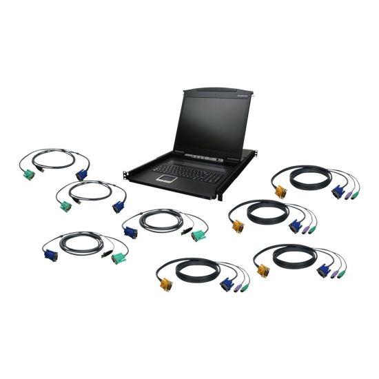 """IOGEAR GCL1908KIT - KVM-konsol - 19"""" - med PS/2 and USB KVM Cables"""