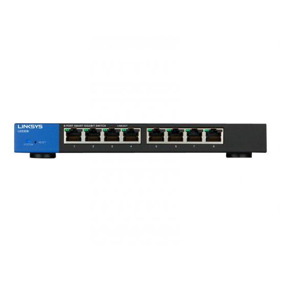 Linksys Smart LGS308 - switch - 8 porte - Administreret