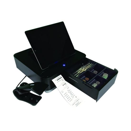 Star Micronics mPOP Receipt Printer, Cash Drawer - White