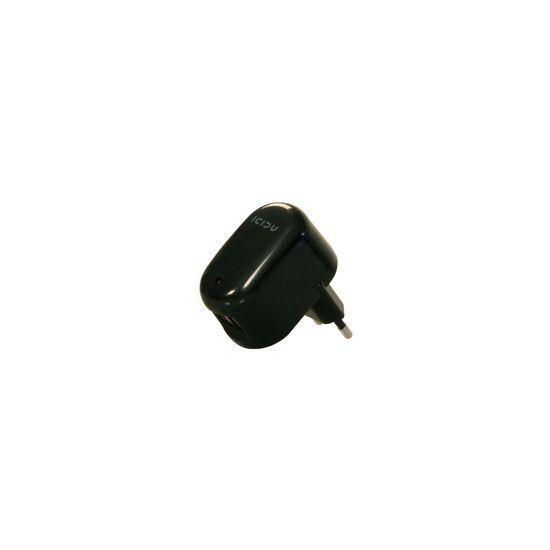 Icidu USB AC Adapter 2 port Black, 2x USB female