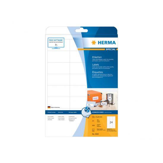 HERMA Special - etiketter til filmapper - 600 etikette(r) - 66 x 33.8 mm - 90 g/m²