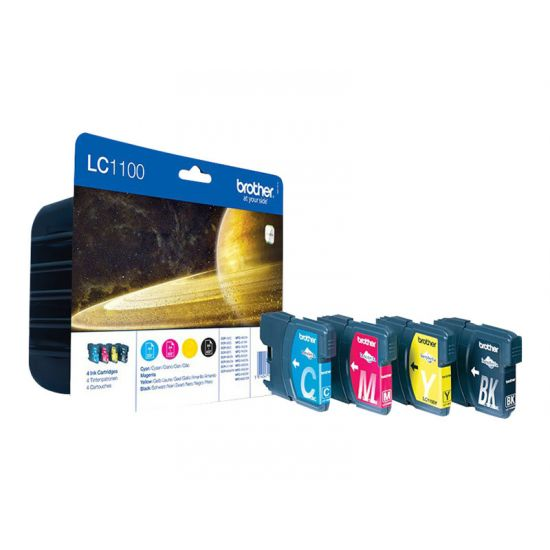 Brother LC1100 Value Pack - 4 pakker - sort, gul, cyan, magenta - original - blækpatron