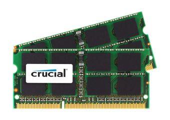 Crucial &#45 16GB: 2x8GB &#45 DDR3 &#45 1333MHz &#45 SO DIMM 204-PIN