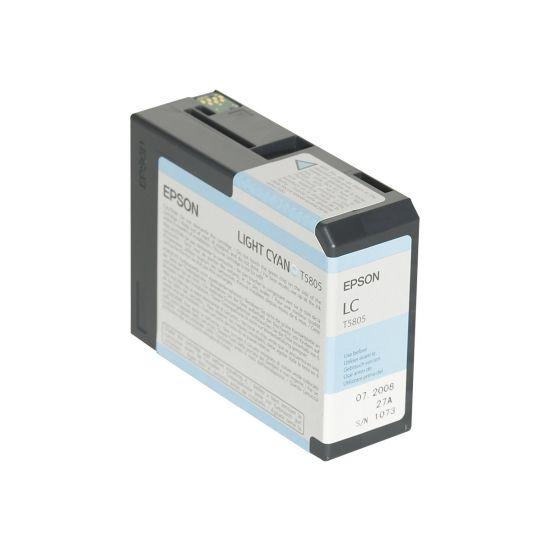 Epson T5805 - lys cyan - original - blækpatron