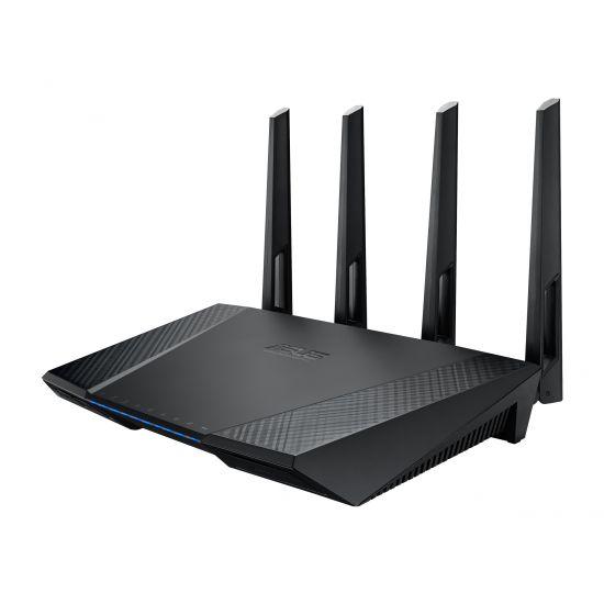 ASUS RT-AC87U - trådløs router - 802.11a/b/g/n/ac - desktop, væg-monterbar