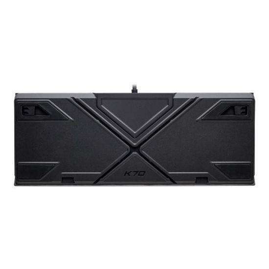 CORSAIR Gaming K70 RGB MK.2 LOW PROFILE RAPIDFIRE Mechanical - tastatur - Nordisk - anodiseret aluminium