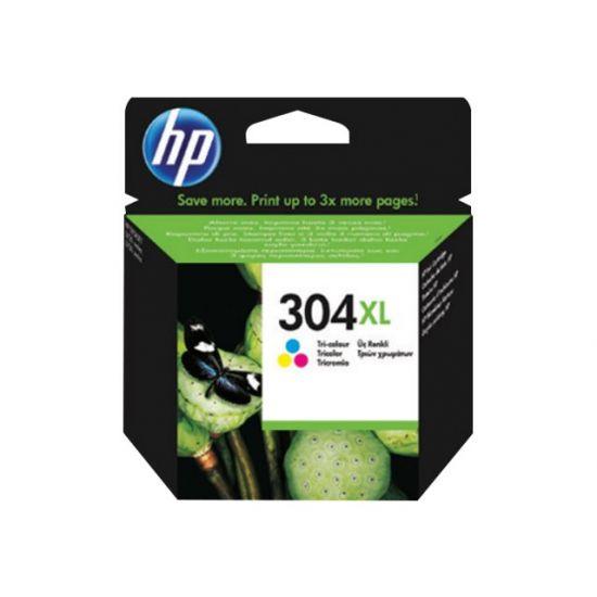 HP 304XL - Højtydende - farvebaseret tricolor - original - blækpatron