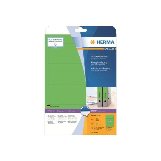 HERMA Special - uigennemsigtige mappemærkater - 80 etikette(r)