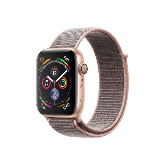 Apple Watch Series 4 (GPS) - guldaluminium - smart ur med sportsløkke - pink sand - 16 GB