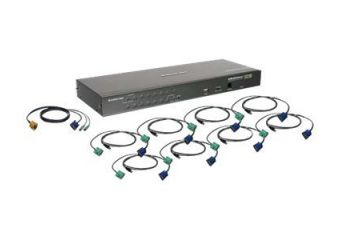 IOGEAR USB PS/2 Combo KVM Switch with Cables GCS16KIT