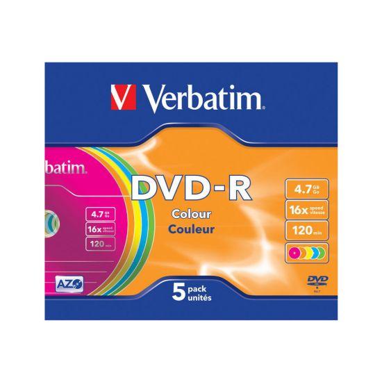 Verbatim Colours - DVD-R x 5 - 4.7 GB - lagringsmedie