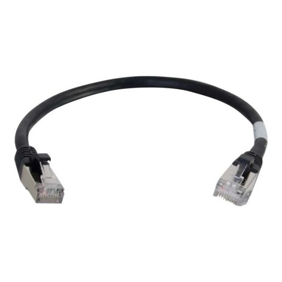 C2G Cat6a Booted Shielded (STP) Network Patch Cable - patchkabel - 1.5 m - sort