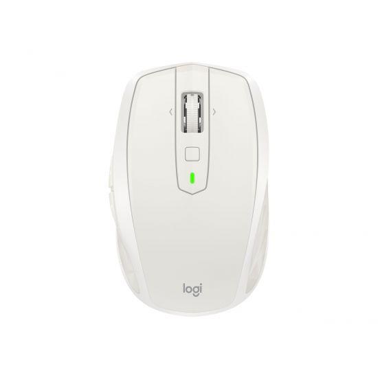 Logitech MX Anywhere 2S - mus - Bluetooth, 2.4 GHz - lysegrå