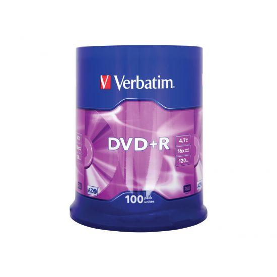 Verbatim - DVD+R x 100 - 4.7 GB - lagringsmedie