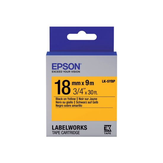 Epson LabelWorks LK-5YBP - mærkattape - 1 rulle(r) - Rulle (1,8 cm x 9 m)