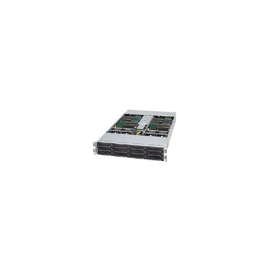 Supermicro SuperServer 6026TT-TF - rack-monterbar - uden CPU - 0 MB - 0 GB