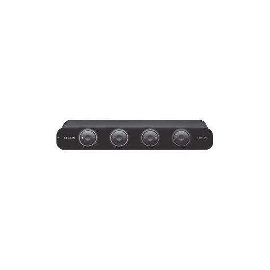 Belkin OmniView SOHO Series 4 Port KVM Switch with Audio - KVM / audio / USB switch - 4 porte
