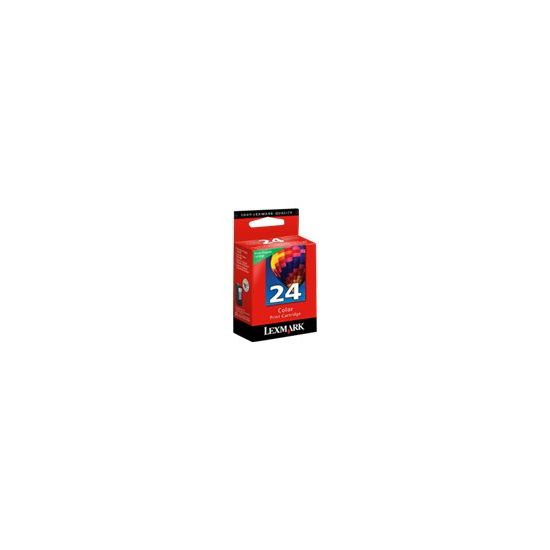 Lexmark Cartridge No. 24 - farve (cyan, magenta, gul) - original - blækpatron - LRP