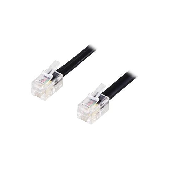 DELTACO DEL-160C - telefonkabel - 2 m - hvid